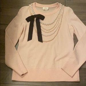 Kate Spade pearl bow sweater
